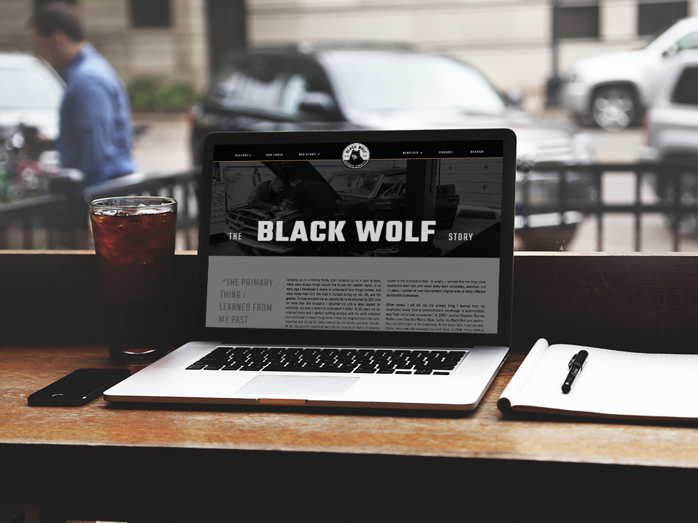 Black Wolf Auto - Laptop view