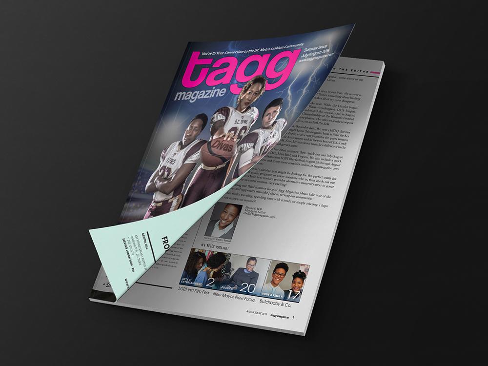 Tagg Magazine design by Alesha Randolph