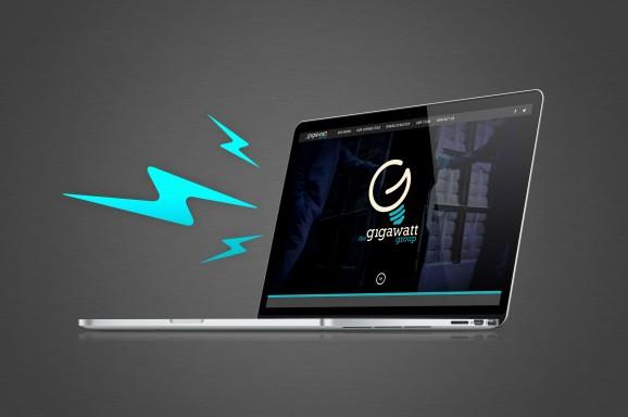 Gigawatt Group website on a laptop