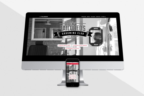 Tailoreds - Website on iMac and iPhone