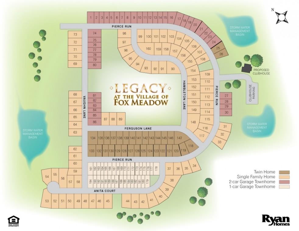 Fox Meadows Site Map